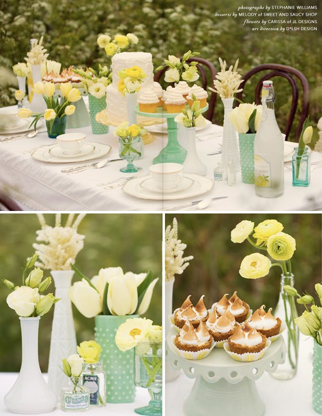Eco Chic Weddings Green tablescape inspiration
