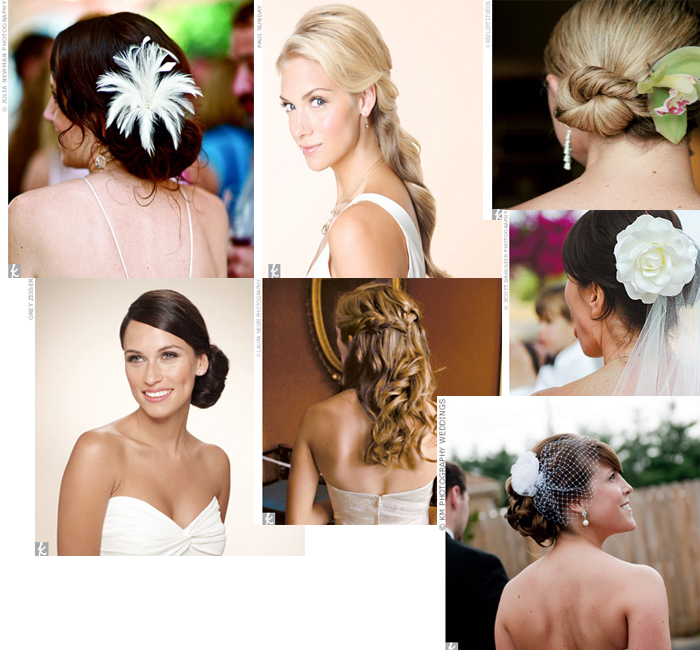 Also, think of different hair adornments such as peacock feathers,